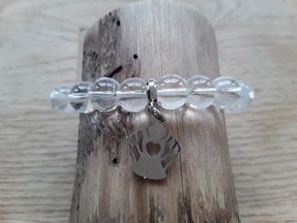Bergkristall Armband mit Schutzengel