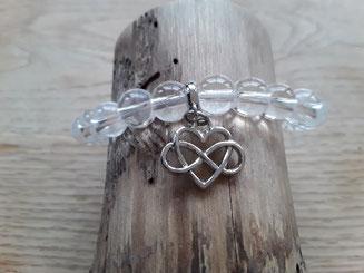 Bergkristall Armband mit Keltischen Knoten
