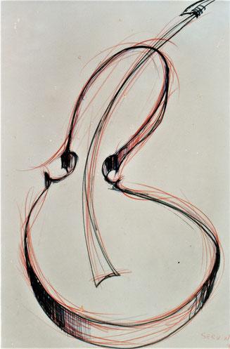 Décennie 1990 // Violon (dessin)