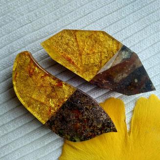 Baltic amber  unique  mosaic best natural Kaliningrad workshop églomisé