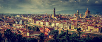 Panorama of Florence Italy