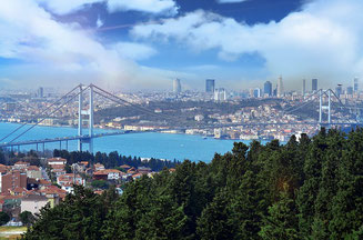 View on the Bosphorus Istanbul