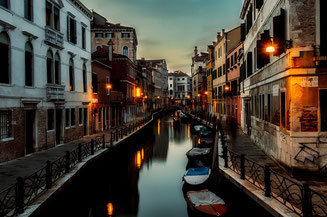 Venice Channels in the Evening