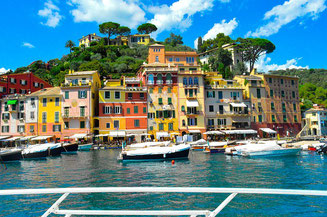 Colourful Houses on the Bay Portofino