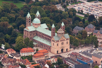 Speyer Cathedral from Above