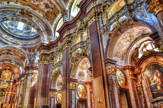 Inside the Melk Cathedral