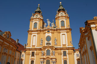 The Facade of the Melk Cathedral