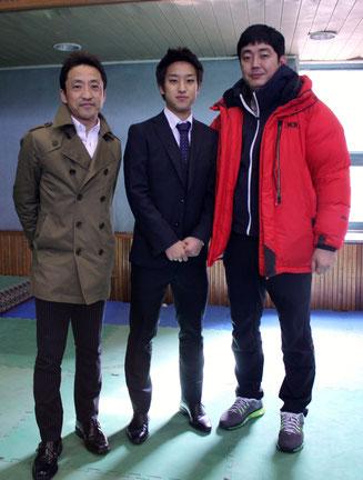 西村先生・純選手・テコンドー部コーチ