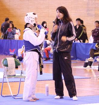 セコンド:ロンドンオリンピック日本代表濱田真由選手