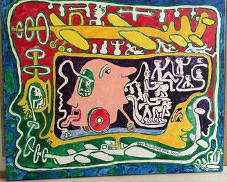 Yvon TAILLANDIER  acrylique sur toile, signé et datée