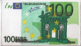 100€, Euroschein, Stickerei. Geld sparen, Problemlösungen