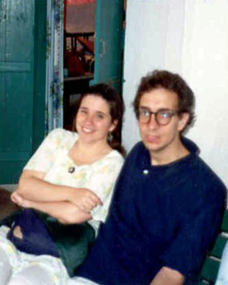 India :  Jane with her late husband Bob ( cropped photo )