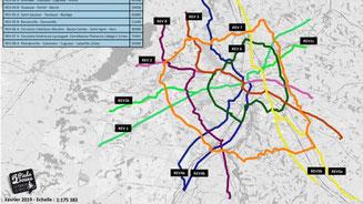 """Pour 2 Pieds-2 Roues, 8 lignes d'un """"Réseau Express Vélos"""" permettraient 350 000 déplacements par jour"""