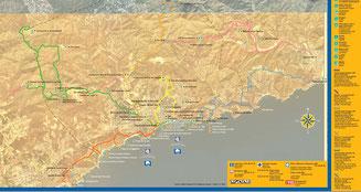 Карта пешеходных маршрутов Коста-Брава