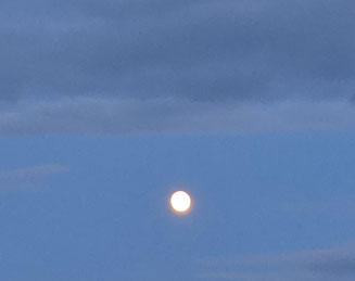 満月前夜の月