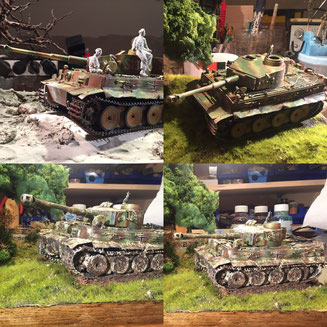 Tiger Panzer - Academy Tiger 1 early version 1:35