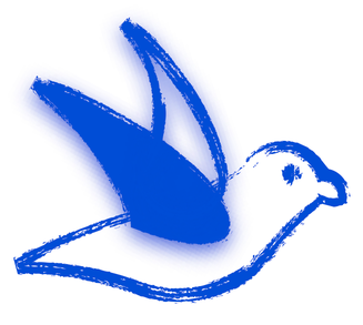 blauer Vogel, Logo, Psychologische Praxis 'schwereslos' in Aschaffenburg