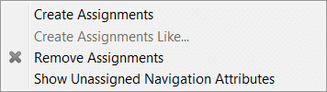 Show Unassigned Navigation Attributes