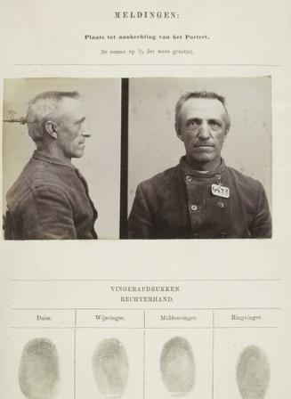 Signalementkaart Veenhuizen opname 17-08-1896