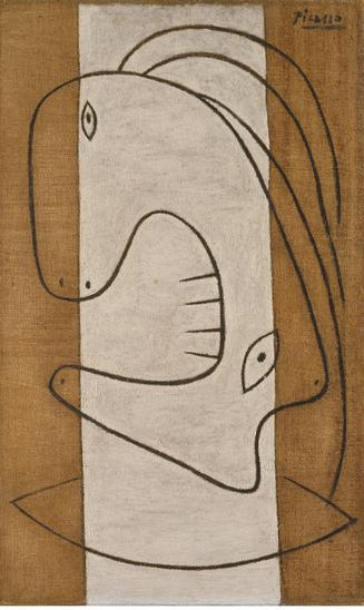 Cabeza de mujer 1927.Óleo y carboncillo sobre lienzo.55x33cm.The Metropolitan Museum of Art.