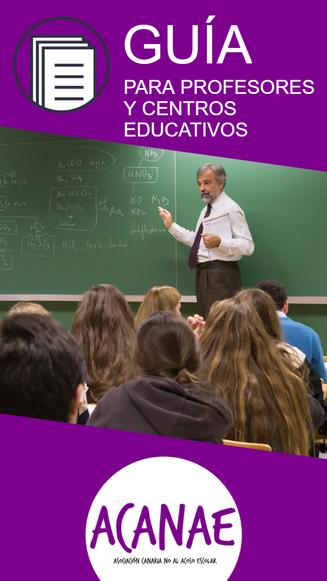 Guía para profesores y centros educativos en casos de acoso escolar / bullying