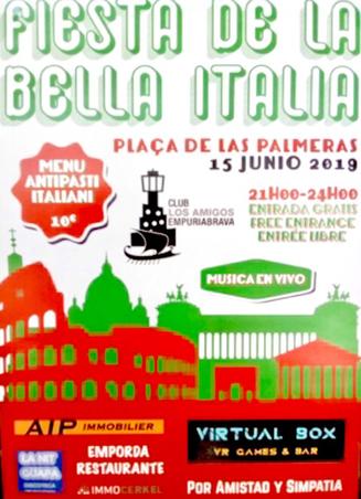Italienisches Fest beim Nautic Club Empuriabrava