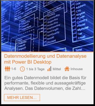 Training: Datenmodellierung und Datenanalyse in Power BI