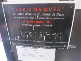 1er Salon d'Art et d'histoire de Paris (19&20octobre2013)