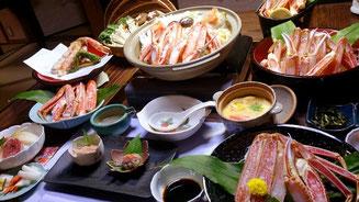 かに刺身、かに天ぷらに人気があります。