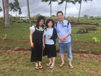 ハワイ オアフ島 貸切チャーター クカニロコバースストーンにて