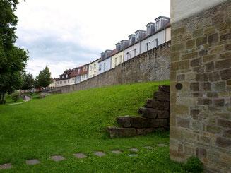 Blick vom Weißen Turm auf den Oberen Wall