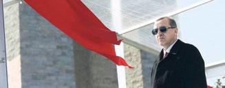 Präsident Recep Tayyip Erdogan versteht keinen Spaß, wenn er sich beleidigt fühlt.Foto: Foto: K. Ozer/Reuters