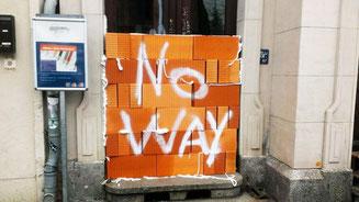 Die zugemauerte Tür in Halle © Lamsa Halle