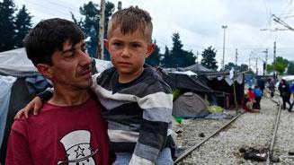 Ismael war eineinhalb Jahre von seinem Sohn Ahmed getrennt. © Sophia Maier