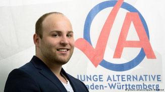 """Der Vorsitzende der """"Jungen Alternative"""", Markus Frohnmaier"""