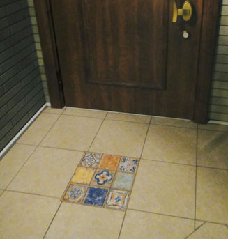 玄関 タイル 床