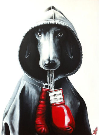 """""""Play with me!"""", 2012, acrylic on canvas, 60x80"""