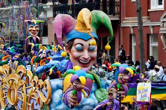 Exemple de char, carnaval de la Nouvelle Orléans