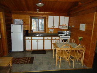 2 Bedroom Log Cottage Kitchen