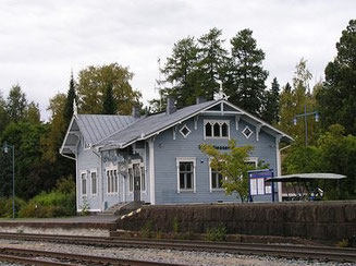 Alter Bahnhof - Blockhaus - Tradition -  Blockhausbau