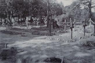 Der Lagerfriedhof Parnewinkel, Foto: F. Hillermann, 1941