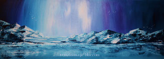 MaLo 2015 * Hübsch kalt * Original Acrylbild auf Keilrahmen 80 x 30 cm, € 130,--