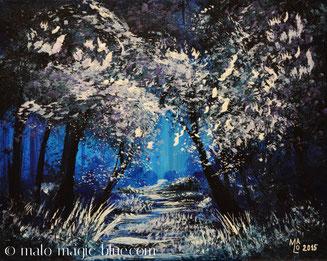 MaLo 2015 * With All My Heart * Original Acrylbild auf Keilrahmen 30 x 24 cm, € 64,--