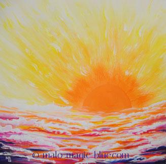 MaLo 2015 * Lass die Sonne in dein Herz! * Original Acrylbild auf Keilrahmen 40 x 40 cm, verkauft