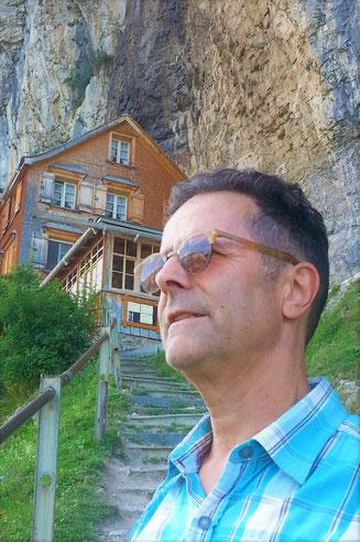"""Jul 2018 mit """"Äscher"""" im Hintergrund und mich im Vordergrund"""