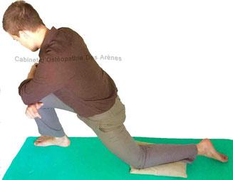étirement psoas ostéopathie ostéopathe arènes toulouse