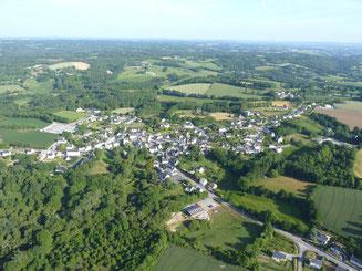 vue du bourg depuis le ciel