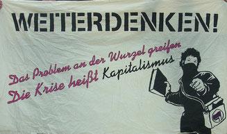 Bankfurt Blockupied, Foto: W. Sterneck