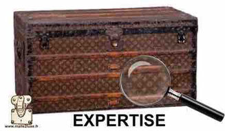 old Louis Vuitton trunk valuation estimate