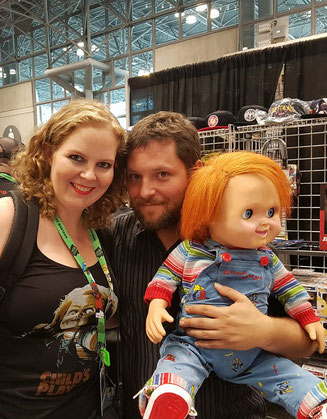 With Alex Vincent at New York Comic Con